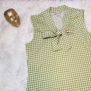Banana Republic Pattern Blouse Green Large